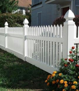 Vinyl Fence, Tuckerton Spade Caps, White